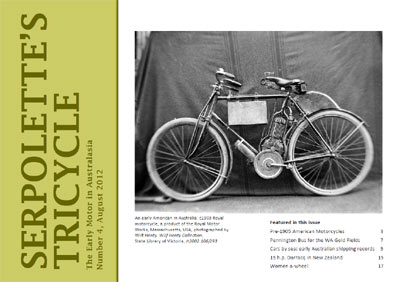 Serpolette's Tricycle, Number 4, August 2012